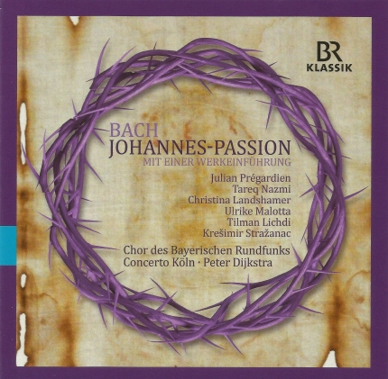 Johannes-Passion CD Cover